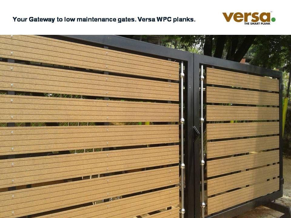 Your Gateway To Low Maintenance Gates Versa Wpc Planks Wood Plastic Composite Plank Gate