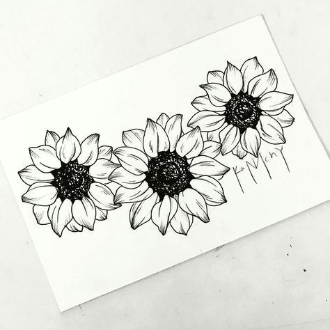 Best Flowers Drawing Sunflower Tattoo Ideas Ideas - Metarnews Sites