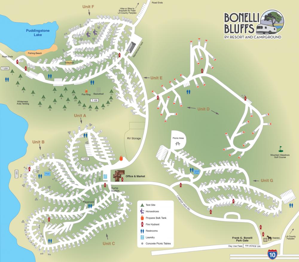 Resort Map Bonelli Bluffs Rv Resort Campground In 2020 D Unit Resort Map