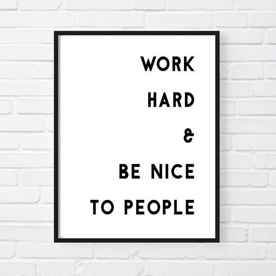 Work Hard Motivational Print Inspirational Poster Office Decor Gift For Boss Cool Poster Motivational Poster Girl Boss Motivational Prints Office Decor Inspirational Posters
