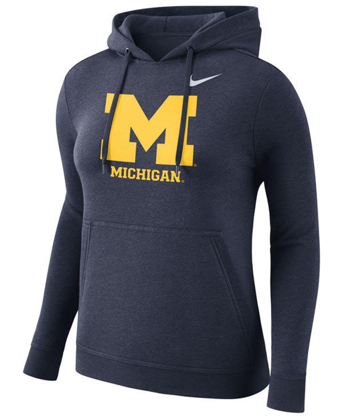 Nike Women S Michigan Wolverines Club Hooded Sweatshirt Navy Nike Women Sweatshirts Hooded Sweatshirts [ 1467 x 1200 Pixel ]