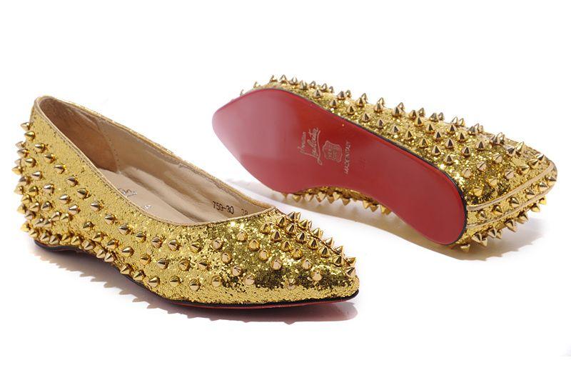 golden  spikes  ballerinas Christian Louboutin Outlet 4d28dc0eb5