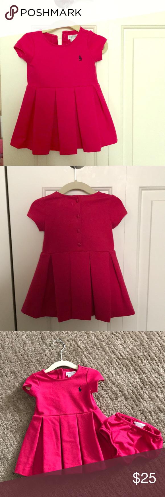 Hot pink color dress  Ralph Lauren hot pink baby dress m  My Posh Picks  Pinterest