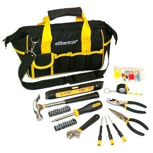 Great Neck 21044 Essentials Around the House Tool Set in Black Bag