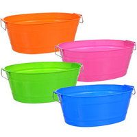 Colorful Oval Plastic Tubs With Handles Spa Party Plastic