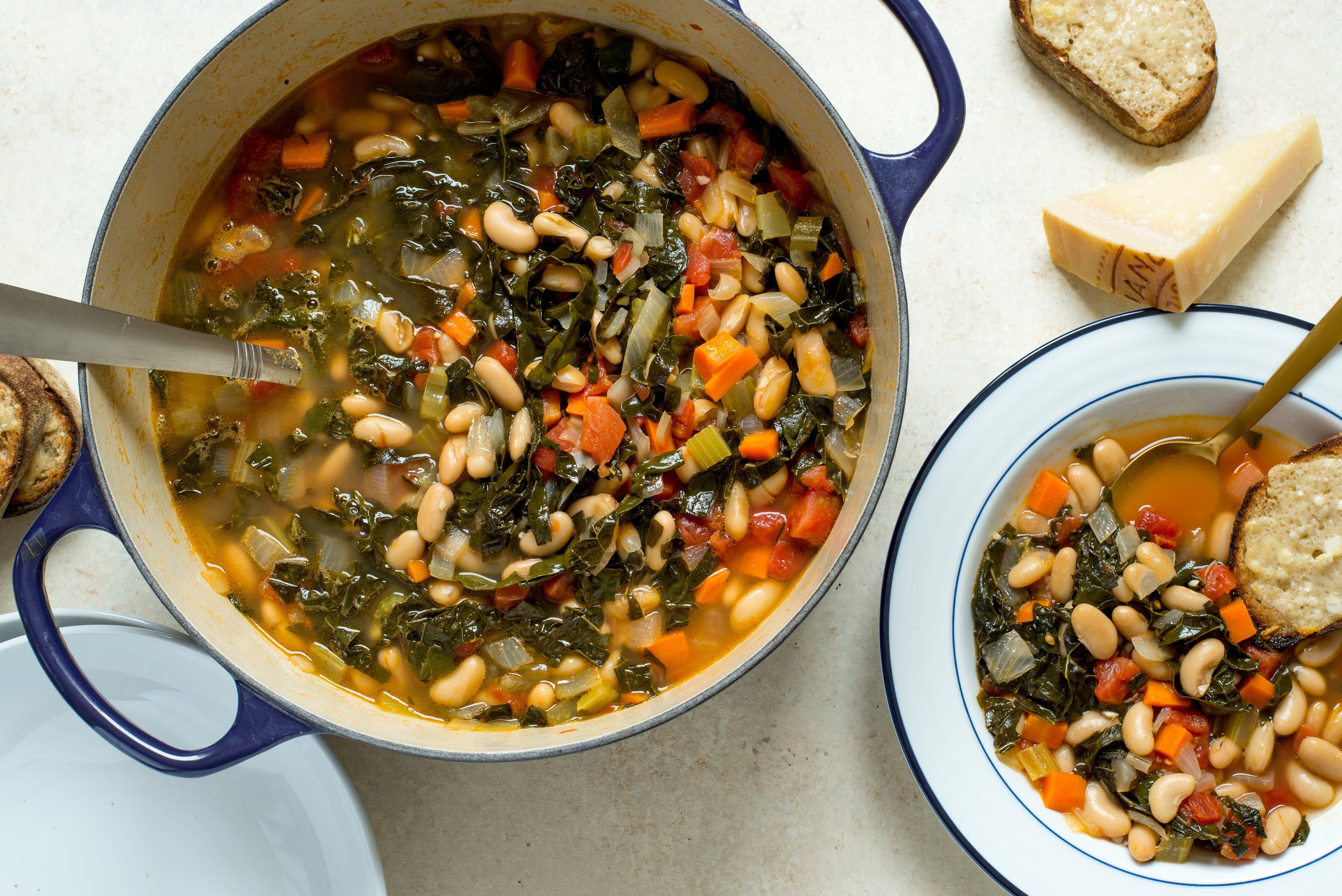 gourmet vegetarian cassoulet recipe - HD5461×3646