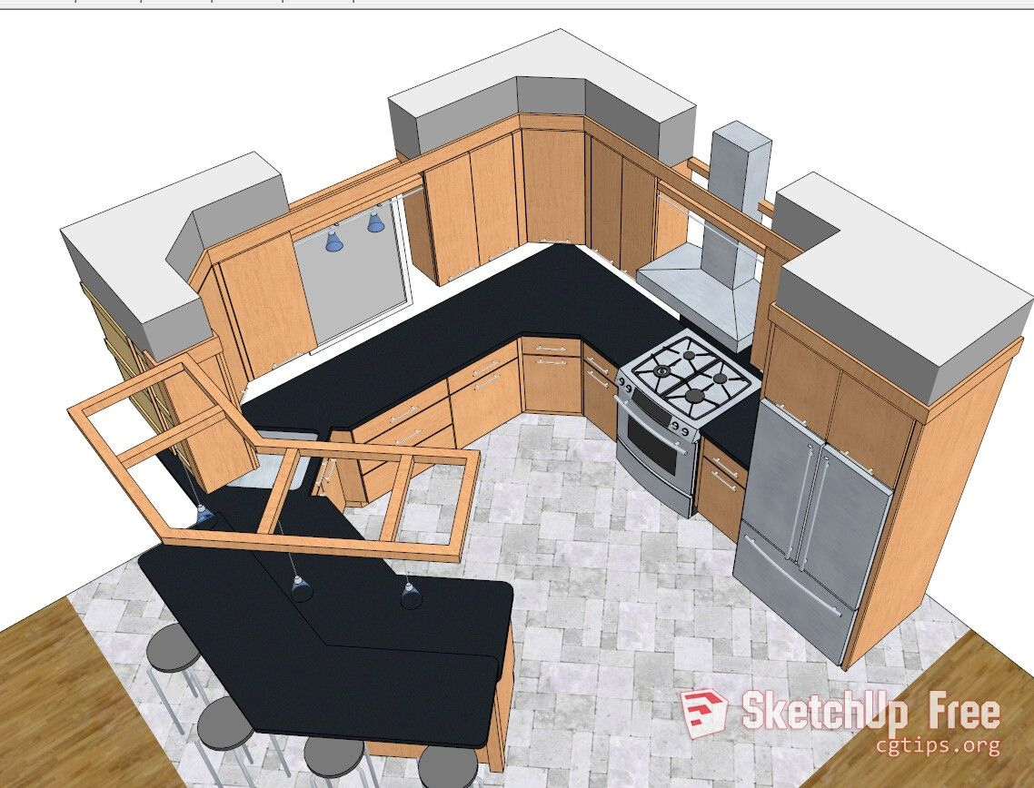 1613 Kitchen Sketchup Model Free Download Sketchup Model Model