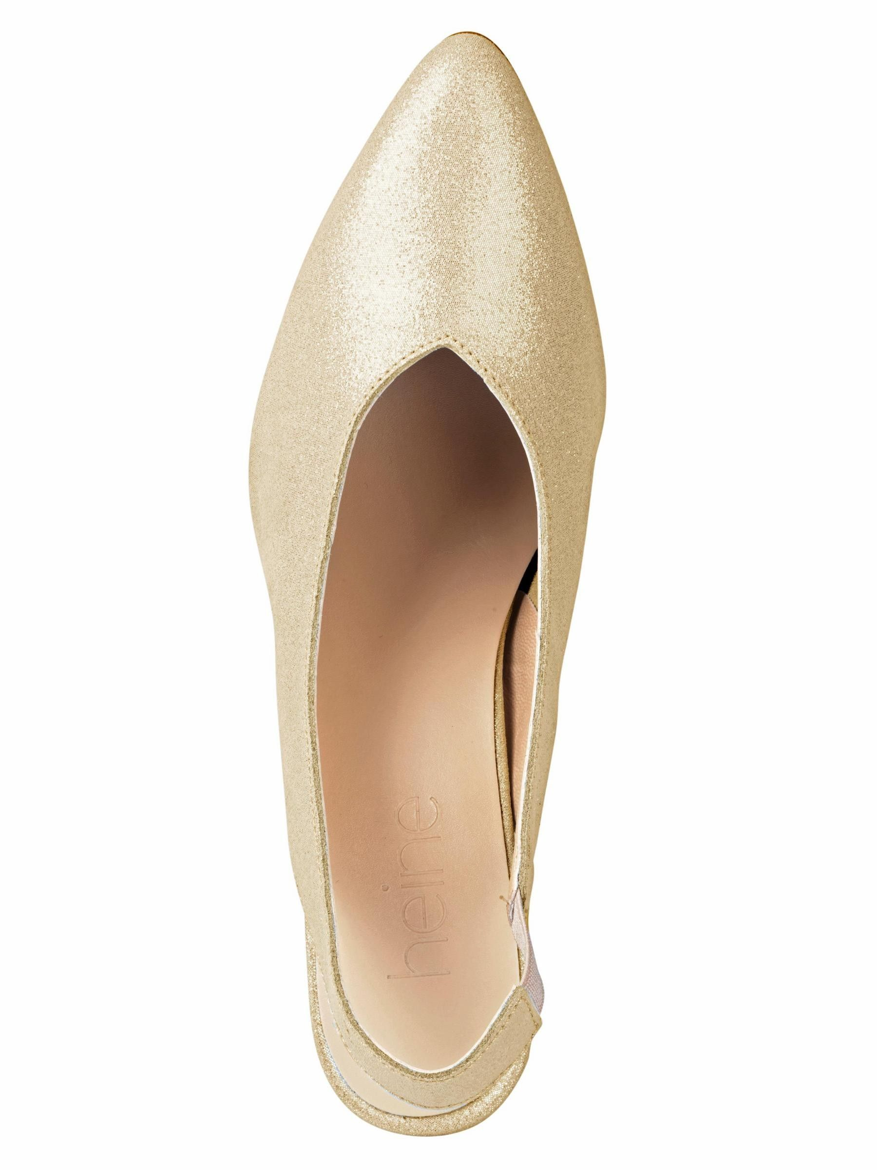 HEINE Slingpumps gold Leder | I LOVE SHOPPING | Gold leder