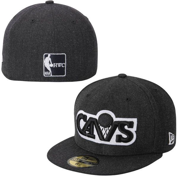 693e8fe0347 Cleveland Cavaliers New Era Heather League Basic 59FIFTY Fitted Hat - Navy  Blue -  26.99