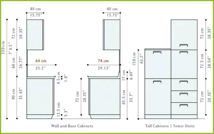 Pin by Nicole on Measurements   Kitchen cabinet sizes ...
