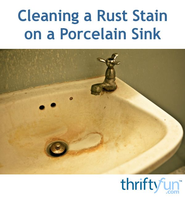 This Is A Guide About Cleaning Rust Stain On A Porcelain Sink. There Are A