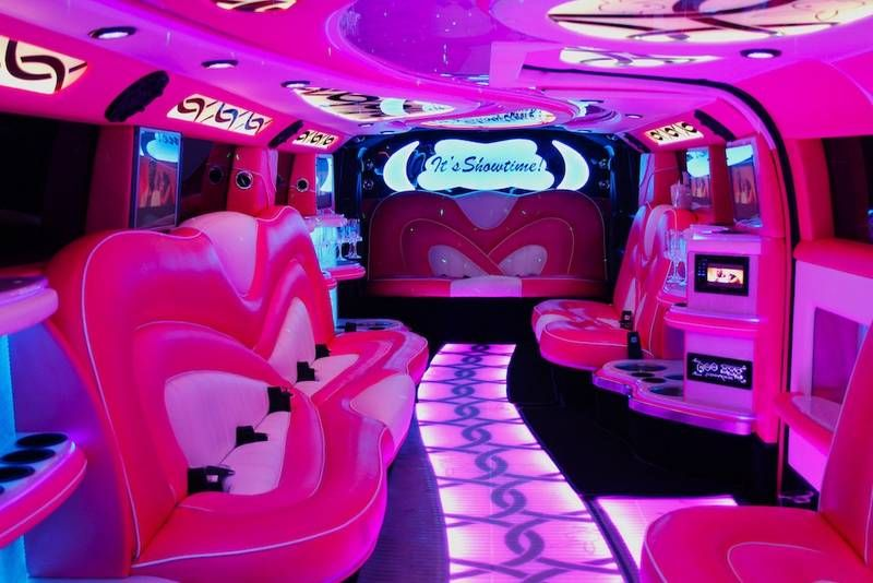 16 Seater Pink Hummer Limo Hire Perth H210 Jet Door