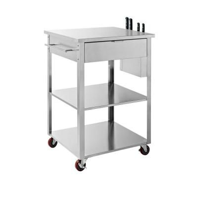Crosley Culinary Prep Kitchen Cart in Stainless Steel   Want ...