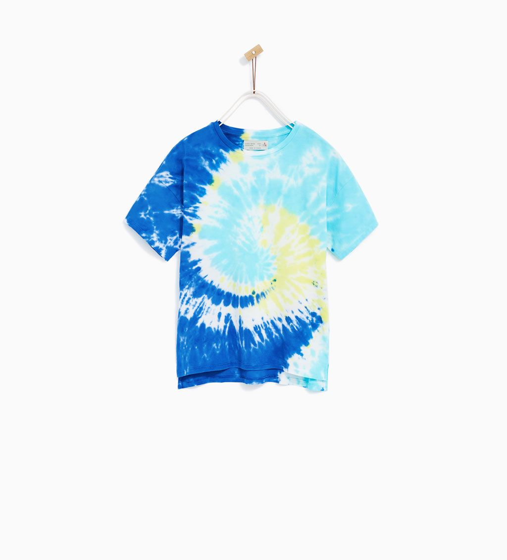 9cdee2161 Image 1 of MULTICOLORED TIE-DYE T-SHIRT from Zara | Tie Dye/Washes ...