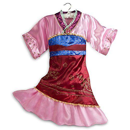Disney Store Princess Mulan Halloween Costume Kimono Dress Girls ...