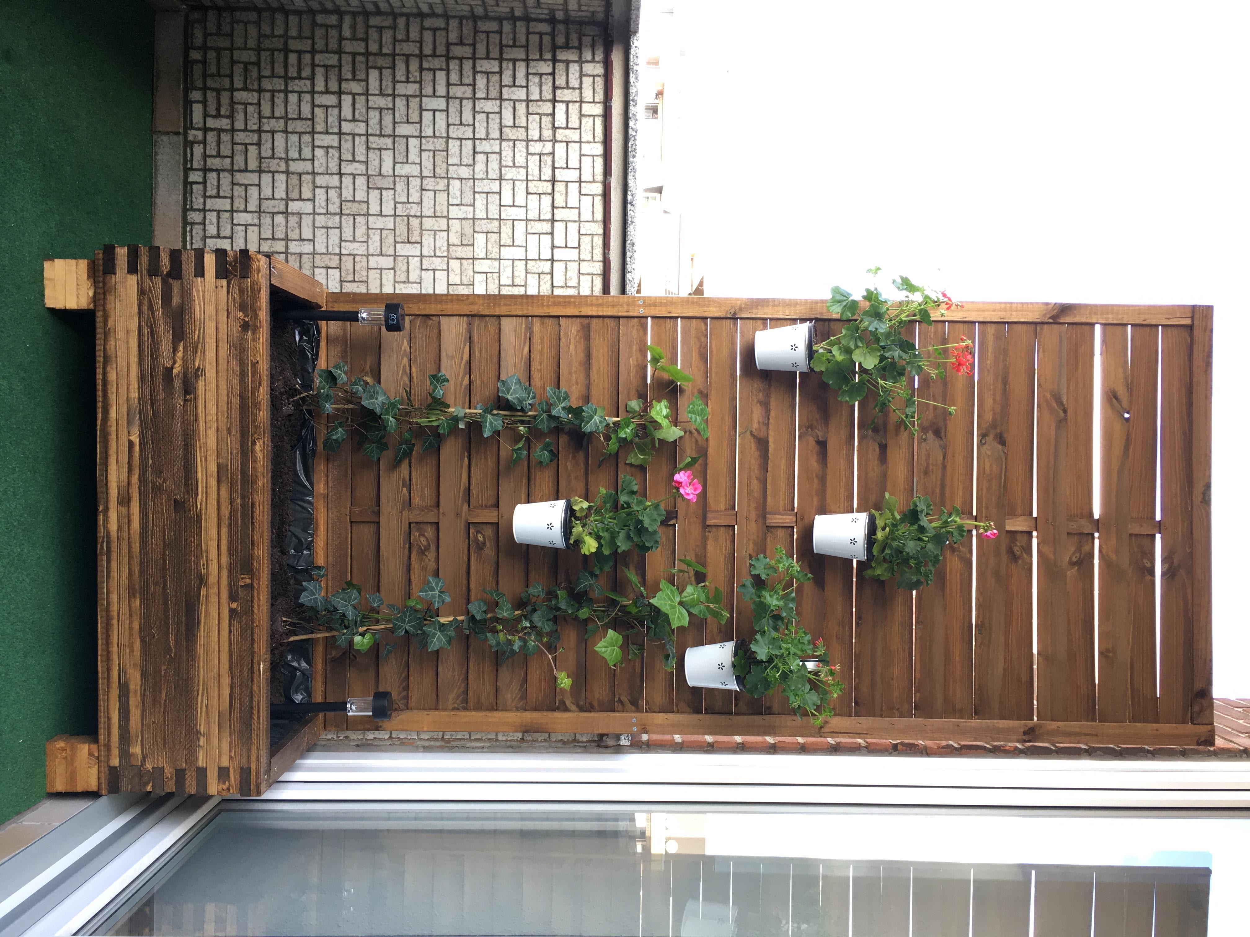 Balkon Sichtschutz Blumenkübel DIY Anleitung – idatschka.de