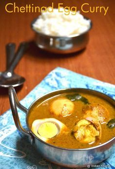 Chettinad Egg Curry Recipe, Chettinad Muttai Kuzhambu, Chettinad Recipes, Curry, Easy Egg Recipes, Egg, Egg Curry, Non-vegg, Side dish for rice, Side dish for Roti, Spicy Egg Curry Chettinad Style, south indian style egg curry