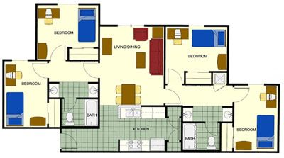 Four Bedroom Apartment   Google Search