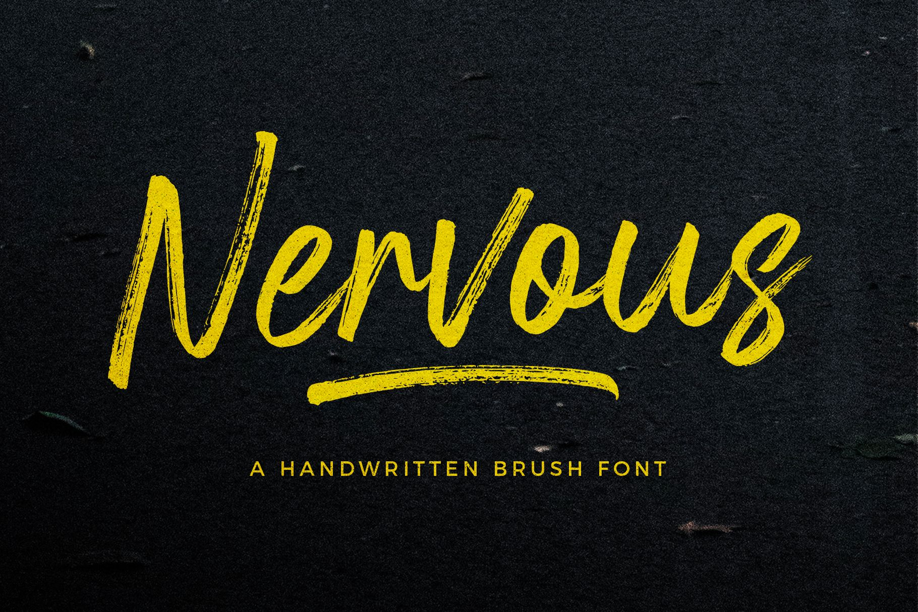Nervous Brush Font With Images Brush Font Brush Fonts Free