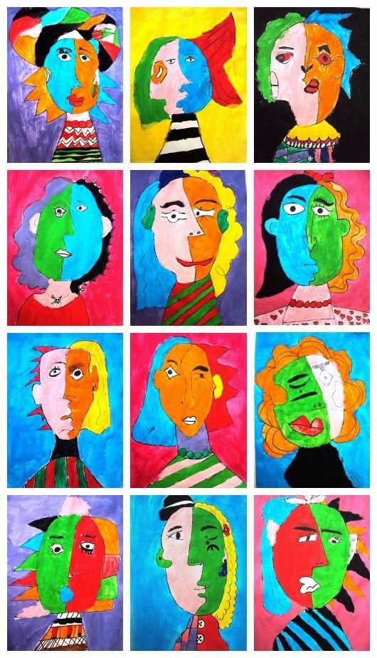 Retrat Cubista Picasso Pablo Picasso Art Picasso Art Kids Art Projects