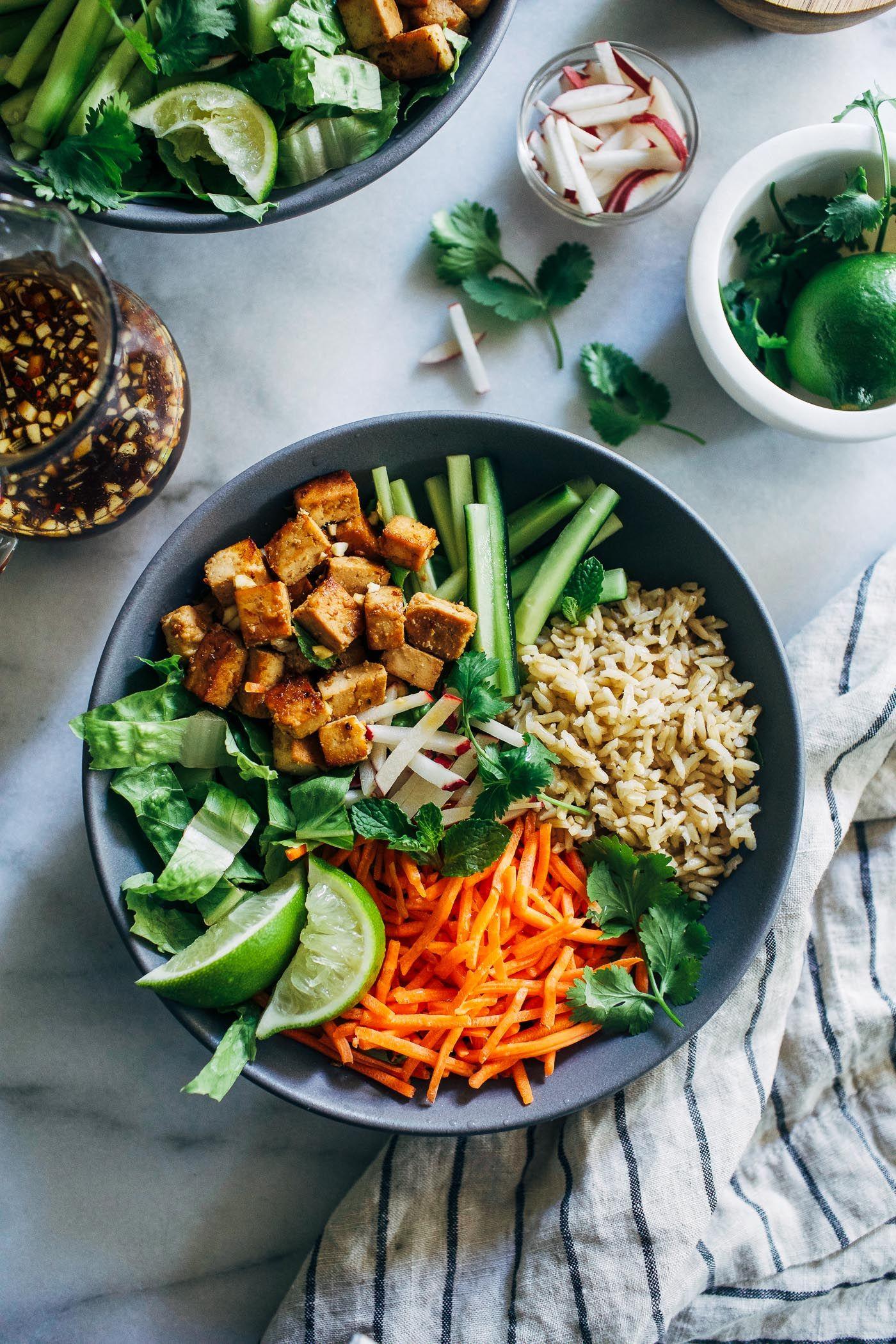 Lemongrass Tofu Bowls – Making Thyme for Health