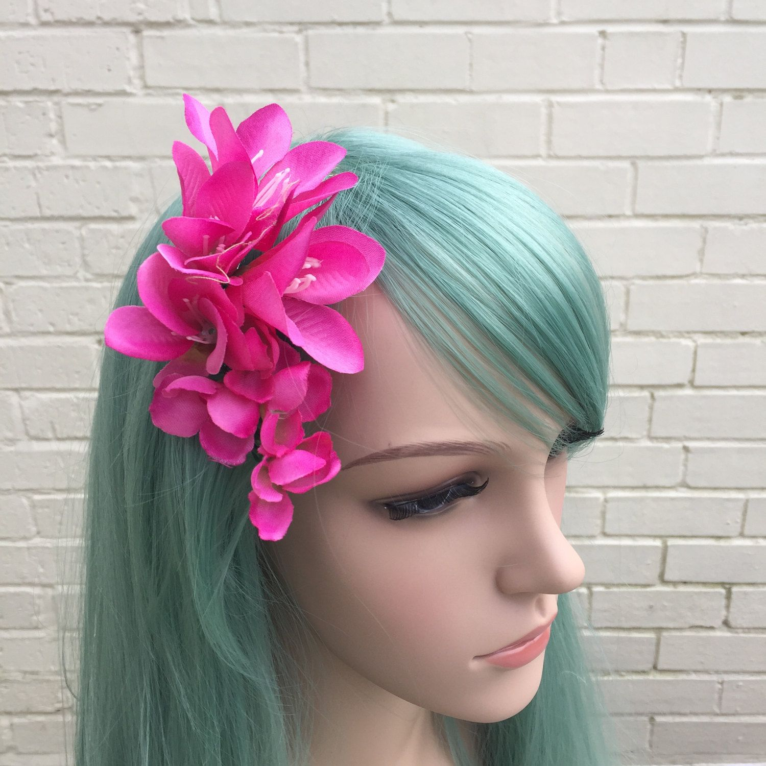 Freesia Hair Comb Pink Hair Comb Pink Hair Flowers Wedding