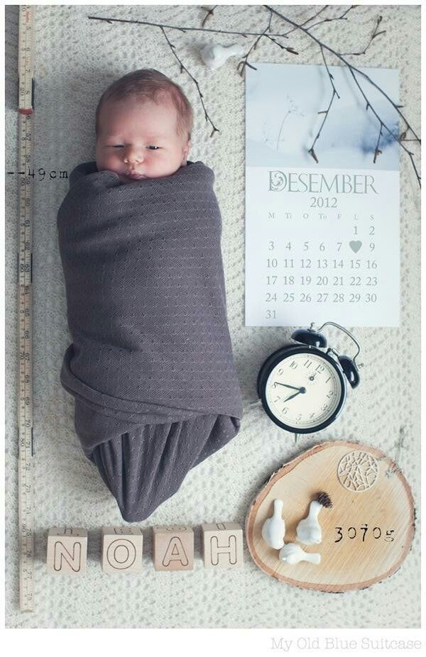 Such a cute way to announce the arrival of a new baby!<3