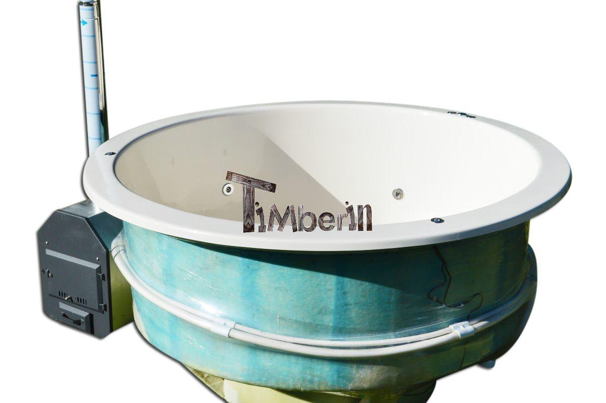 Glasvezel hot tub model voor terras | Houtgestookte Houten Kunststof ...