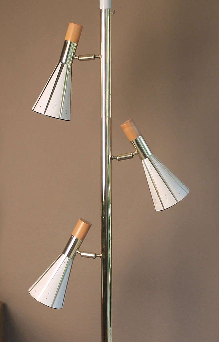 Very Large Ceiling To Floor Pole Lamp 1960s Modernist