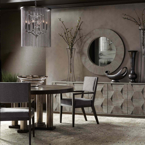Round Dining Table Bernhardt In 2020 Mirror Dining Room