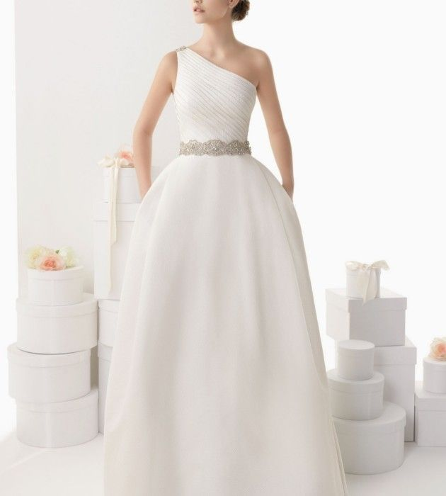 one-shoulder-brautkleid-rosa-clara - Oh Lovely Life | Princess ...