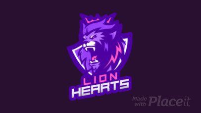 Placeit - Logo Template of a Fierce Lion