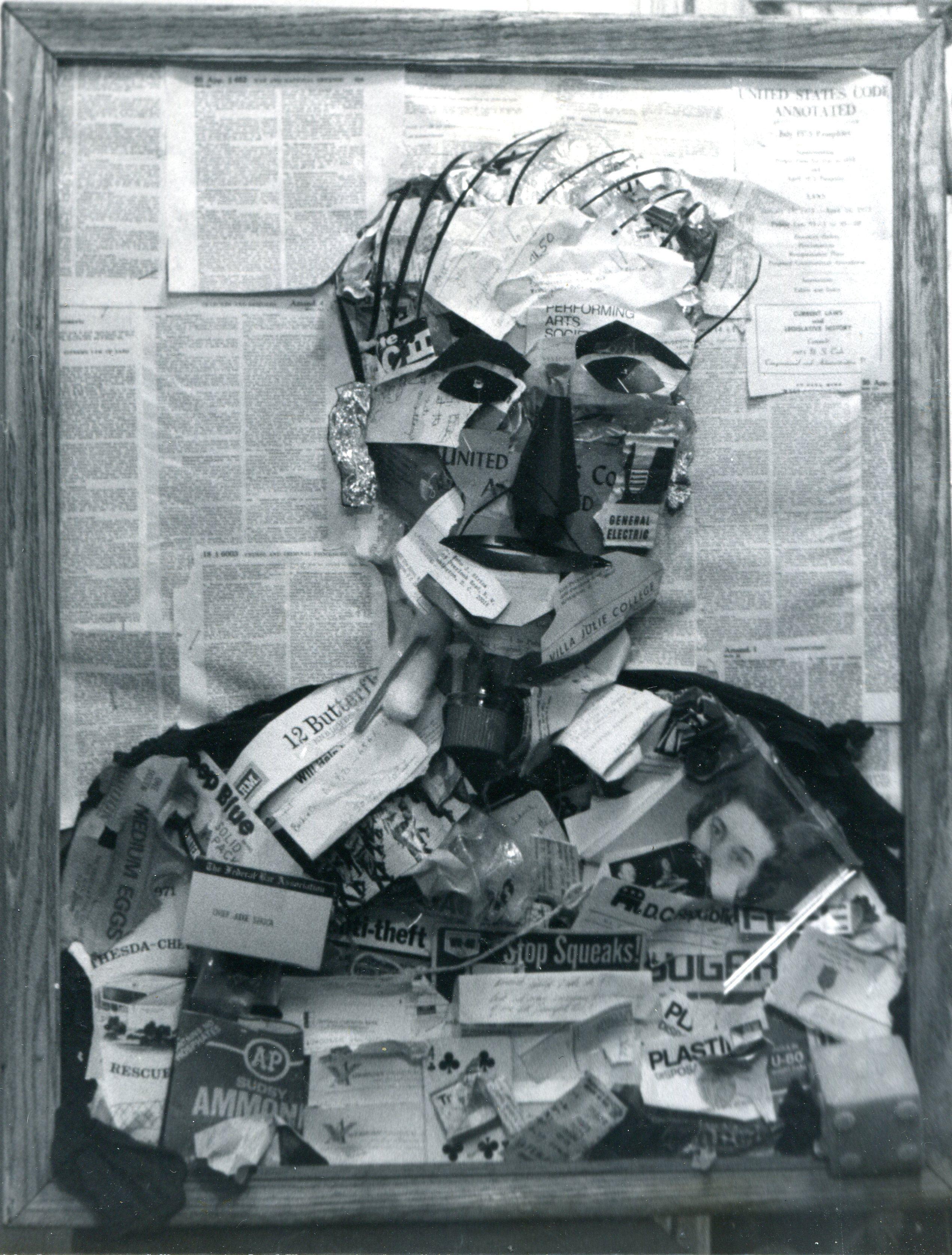 Garbart portrait of John Sirica - Watergate hanging Judge.