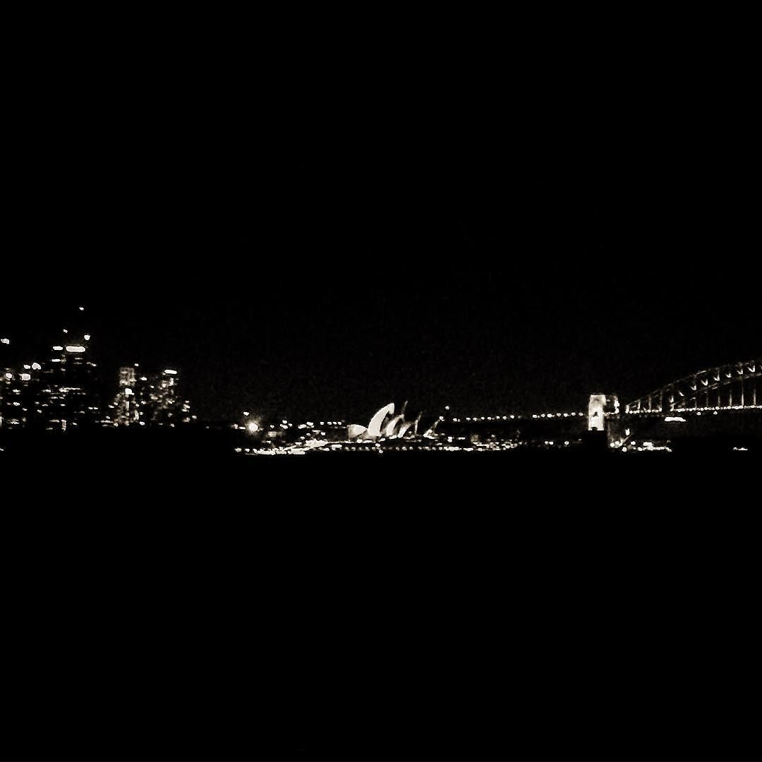 I love the night fying over these city lights but I love you most of all.  #thrice #asongformillymichaelson #ilovesydney #sydney #straya #sydneyharbour #sydneyharbourbridge #sydneyoperahouse #keepsydneyopen #blackandwhite by deedubyewww http://ift.tt/1NRMbNv