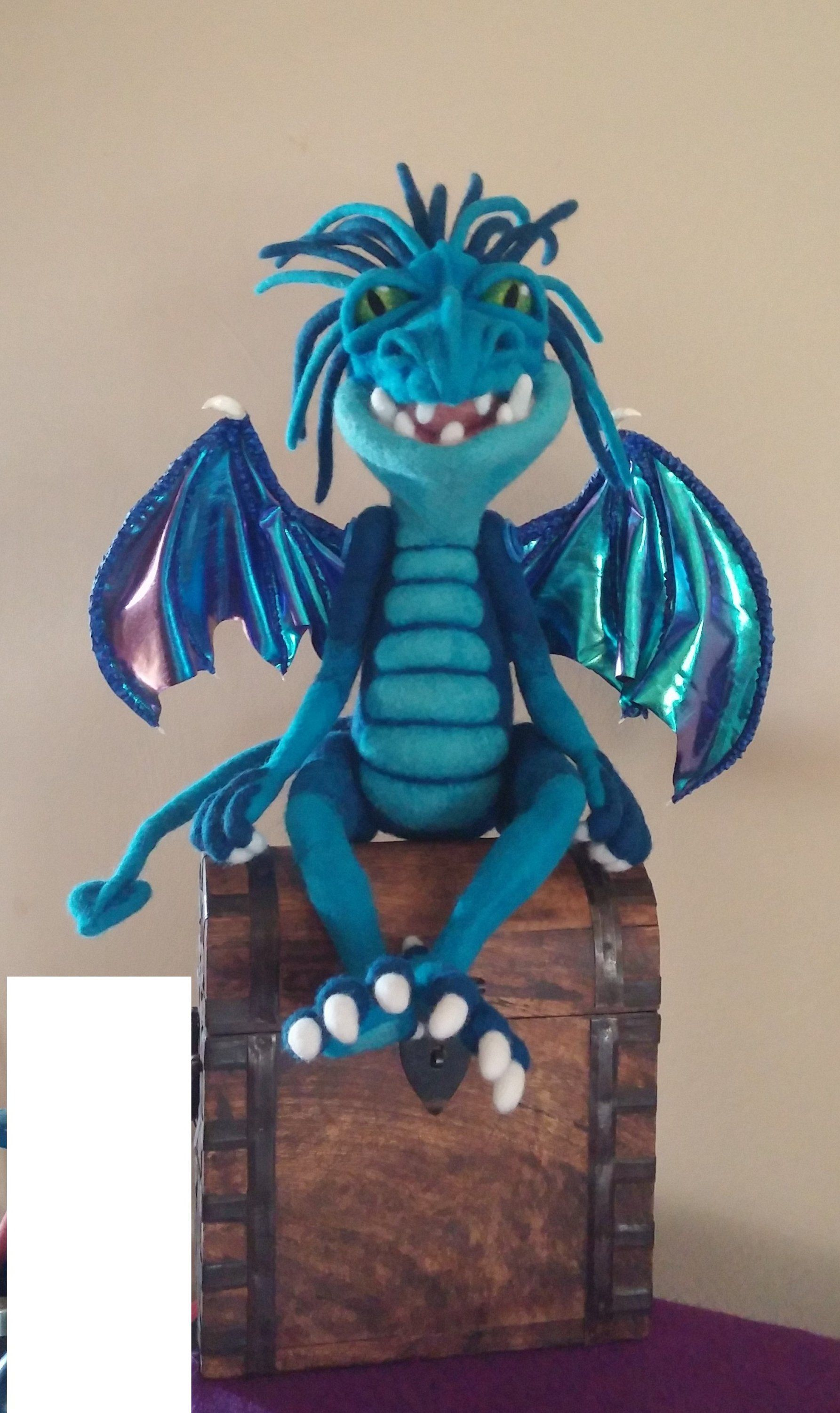 Dragon Art, Draglin Soft Sculpture, Needle Felt Dragon, Handmade Dragon, Art Doll, Felted Dragon, OOAK Dragon