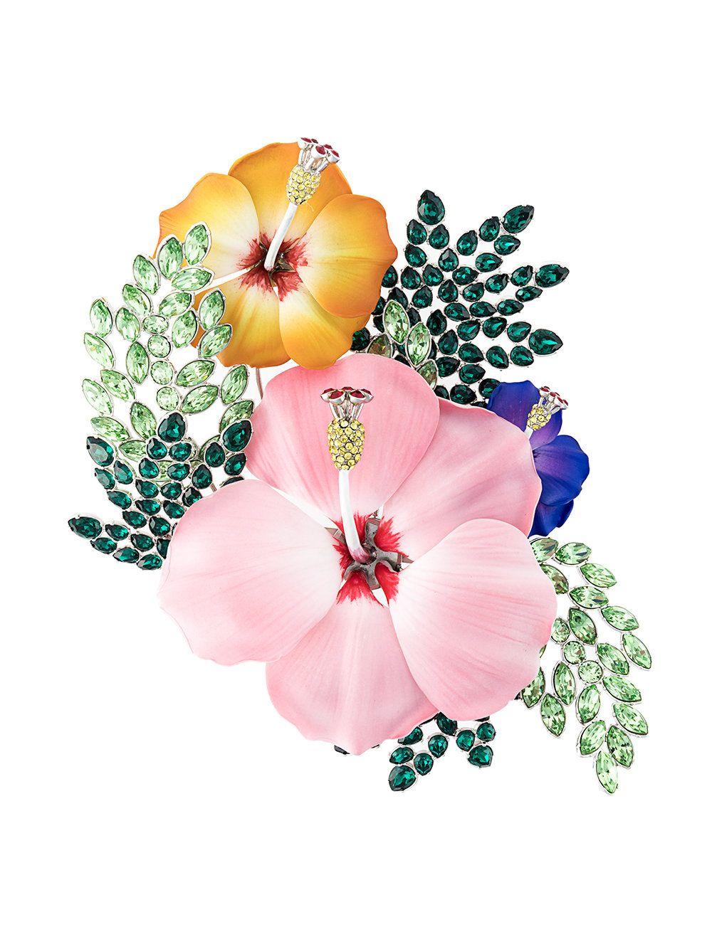 d6cc2f6e4560 Dsquared2 broche con motivo floral