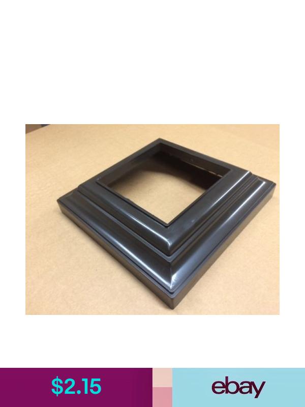 Pvc Vinyl 3 X 3 Post Base Deck Railing Column Trim Ring Bronze Pvc Vinyl Trim Ring Pvc Fence