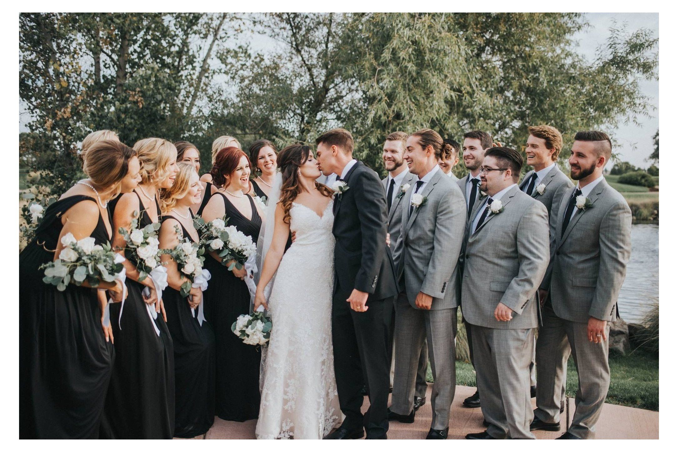 Black Bridesmaid Dresses Grey Groomsmen Blackbridesmaiddressesgreygroomsmen Dav In 2021 Black Bridesmaid Dresses Black And White Wedding Theme Grey Wedding Theme [ 1446 x 2170 Pixel ]