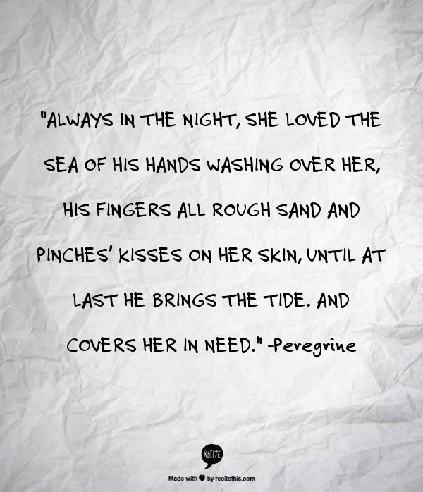 He brings her the tide... beautiful