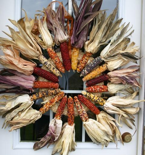 DIY Indian Corn Husk Wreath