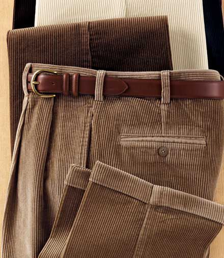 Colorfast Casual Corduroy Pleated Front Pants | Men's Fashion ...