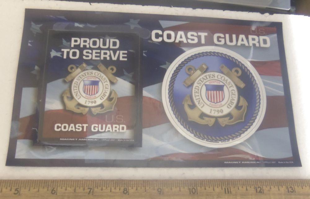 U S Coast Guard Logo Proud To Serve Magnets With Uscg Magnetic Picture Frame Magnetic Picture Frames Coast Guard Logo Coast Guard