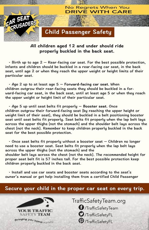 Child Passenger Safety All Children Ages 12 And Under Should Ride