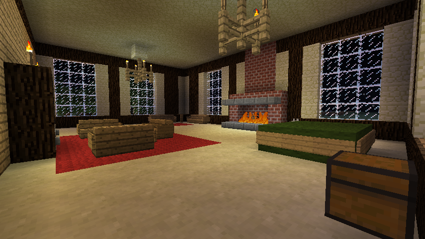 Minecraft bedroom decorating ideas minecraft bedroom for Minecraft house interior living room