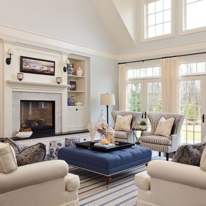 amusing new england contemporary living room   Furniture Layout and Decorating Ideas: Balance and ...