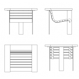 Garden chair design dwg | Furniture CAD blocks / CAD drawings ...