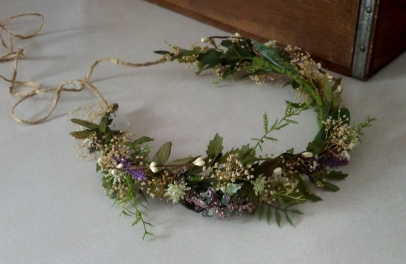 Ivy Vine Woodland Bridal Headwreath flower crown Wedding hair Accessories Rustic Barn wedding headband dried floral hair wreath Headdress
