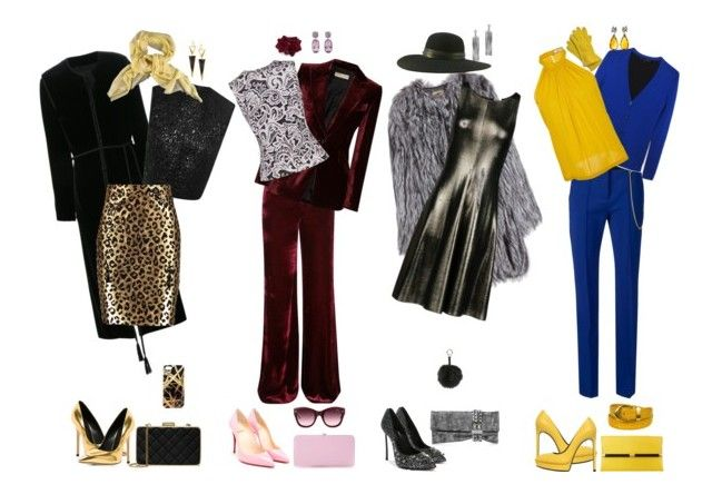 """4 look x l inverno"" by silvia-cavellini ❤ liked on Polyvore featuring Giuseppe Zanotti, Lanvin, MICHAEL Michael Kors, Lana, Khristian A. Howell, Giambattista Valli, Loro Piana, Emilio Pucci, Milly and Mary Katrantzou"