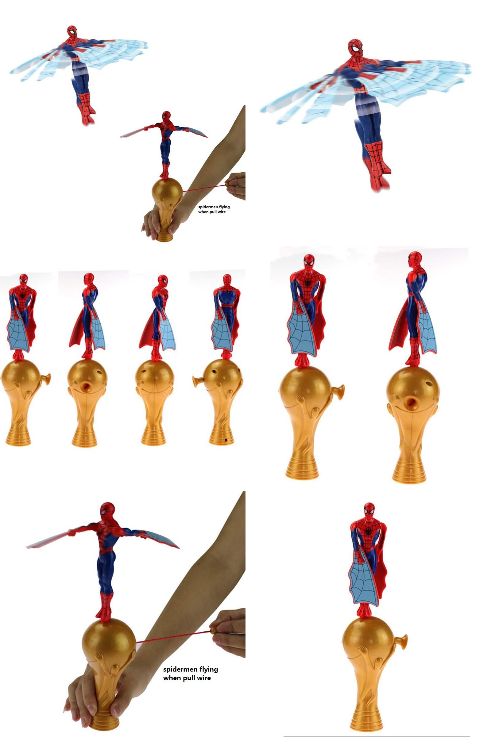 Visit to Buy] 2017 New Amazing Superhero Spiderman Wind Up Flying