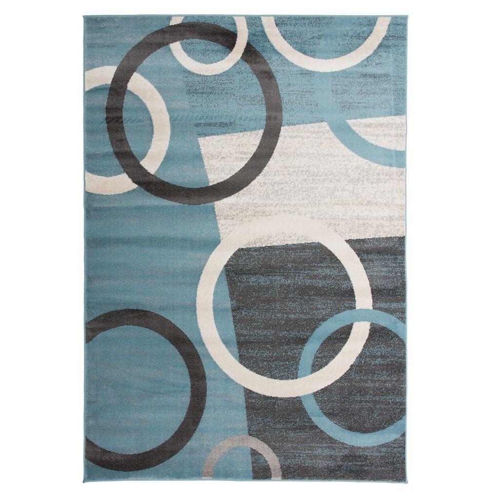 World Rug Gallery Toscana Modern Circles Shapes Rug Blue Area Rugs Area Rugs Rugs
